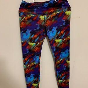 Athleta Multicolor Print Capri Leggings